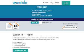 cscp apics real exam questions 100 free exam labs