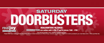 black saturday doorbuster sale is