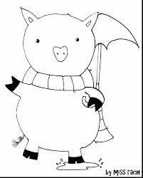 Excellent Rainy Day Piggy Is Bie Enjoy With Rainy Day Coloring Rainy Day Coloring Pages