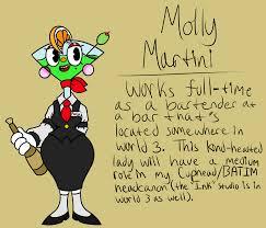cartoon martini batim and inked cuphead hc molly martini ref by reneesretrograde