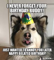 Birthday Animal Meme - funny belated birthdays late happy birthday memes belated b day