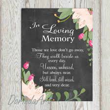 in loving memory wedding in loving memory printable wedding from dorindaart on etsy