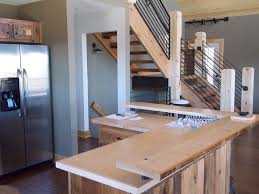 Reclaimed Kitchen Islands by Chalet Kitchen Island From Reclaimed Wood Lofty Mountain Homes