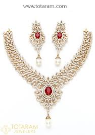 gold necklace ruby images 18k gold diamond necklace drop earrings set with ruby 235 jpg