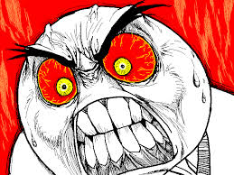 Angry Meme Face - what movie or book makes you irrationally angry human echoes