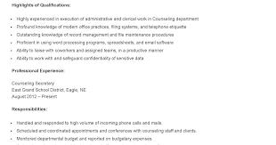 Administrative Secretary Resume Sample Secretary Resume