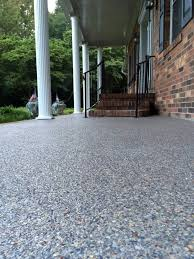 Stain Old Concrete Patio by Resurface Old Concrete With Pebble Stone In One Day Amazing