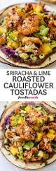 recette saine et facile sriracha and lime roasted cauliflower tostadas recette entrée