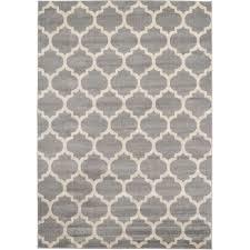 unique loom geometric trellis tan 7 ft x 10 ft rug 3115789 the