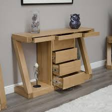 Z Oak Designer Console Table With Central Drawers FurnitureYourHome - Designer hall tables