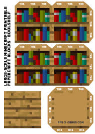 large scale printable minecraft bookshelf and many others my
