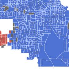 chicago voting map how every chicago neighborhood voted in the 2016 presidential