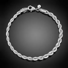 silver plated bracelet chain images Buy 4mm wide twisted chain silver plated jpg