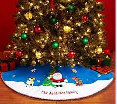 product detail rudolph tree skirt by personal creations