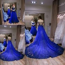 blue wedding dresses discount unique royal blue wedding dresses a line boat neck