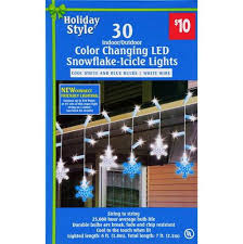 events color changing led snowflake icicle lights 30