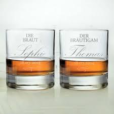 hochzeitsgeschenk braut whiskygläser zur hochzeit braut und bräutigam individuell und edel