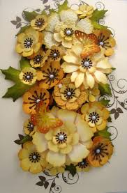 Handmade Flowers Paper - 160 best punch art flowers and plants images on pinterest