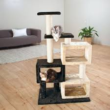 Modern Cat Trees Furniture by The Bartolo Cat Tree 3 Condos Overstock Modern Cat Furniture