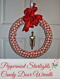 peppermint starlights candy wreath diy building our story