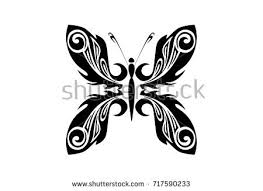 butterfly tribal pattern design stock vector 717590233