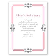 bling border bachelorette party invitation invitations by dawn