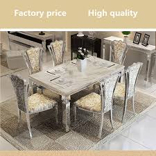 marble and stainless steel dining table charming dining room wall decor under best stainless steel dining