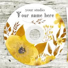 wedding cd dvd label template flowers pattern wedding label