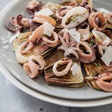 comment cuisiner les artichauts violets la salade de supions et artichauts violets d alex julie andrieu
