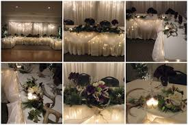 winter wedding head table decorations house design ideas