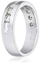 10k white gold wedding band 10k white gold 1 cttw diamond channel set wedding band size 10