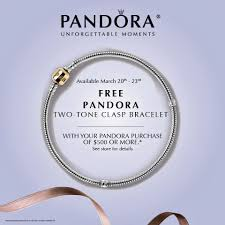 free leather bracelet images Pandora free bracelet summer event be charming blog jpg