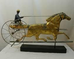 Bull Weathervane Superb 19th Century American Folk Art Full Body Copper Horse