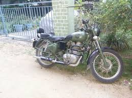 can i paint my royal enfield bullet partly battle green military