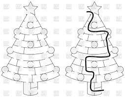 easy tree maze for younger with solution vector