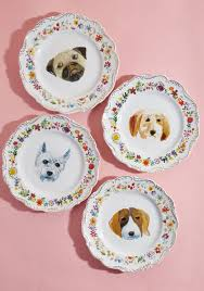 what s for pupper ceramic plate set modcloth
