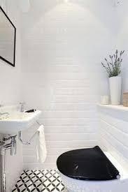 Bathroom White And Black - deco noir et blanc table salon black tile bathrooms black tiles