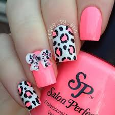 pink leopard and 3d bow nails by nailsbyerin preen me