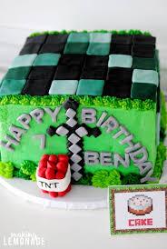 Minecraft Cake Decorating Kit Minecraft Kids Birthday Party Ideas Making Lemonade