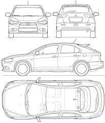 Car Blueprints Mitsubishi Lancer Viii Sportback Blueprints