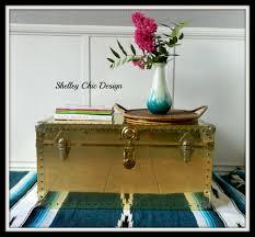 brass trunk coffee table vintage brass steamer trunk coffeetable steamer trunk steamers
