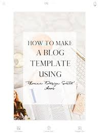 dlolleys help how to make a blog template using rhonna design