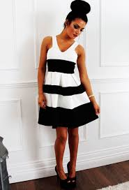 black and white dresses black and white striped skater dress pink boutique