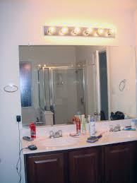 Above Mirror Vanity Lighting Bathroom Contemporary Bathroom Mirrors And Lights Bathroom