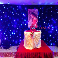 wedding backdrop led 3mx6m led curtain black velvet led cloth wedding