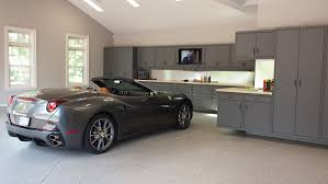 Garage Designer by Perfect Garage Interior Design With Stainless Cabinet And Grey