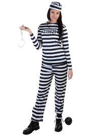 womens halloween costumes with pants women u0027s striped prisoner costume