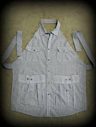 mens shirt apron easy diy video instructions cute ideas apron