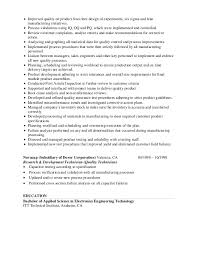 Resume For Fast Food Mike Stewart Resume Quality Engineer 01 12