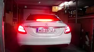 light pink mercedes mercedes c200 c class w205 led tail rear stop brake lights squeak